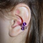 Set of 4 Colorful Ear Cuffs..