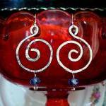 Hand Hammered Bold Earrings..