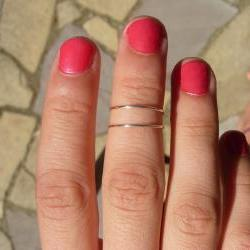 SILVER RING Wear it 6 different ways, pinky ring, mid finger or knuckle ring or toe ring, with the design showing or as two stackable bands